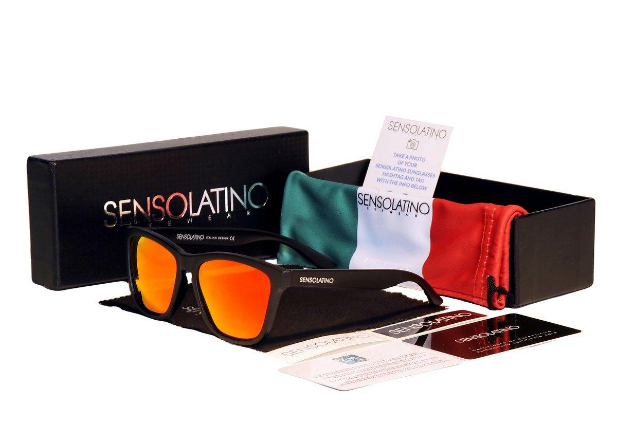 Sensolatino Italian Polarized Sunglasses Naples Orange