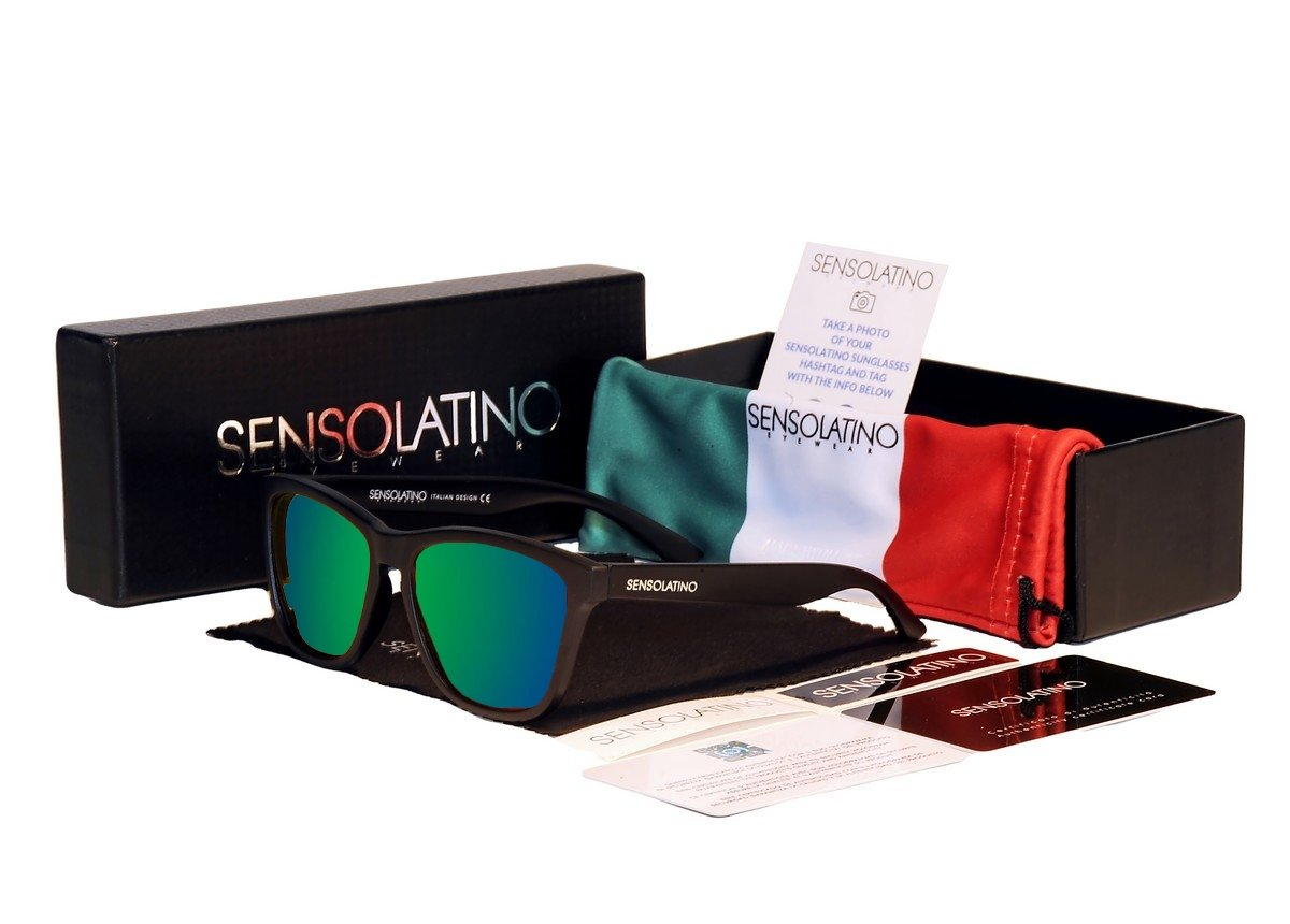 Sensolatino Italian Polarized Sunglasses Portofino Blue Green