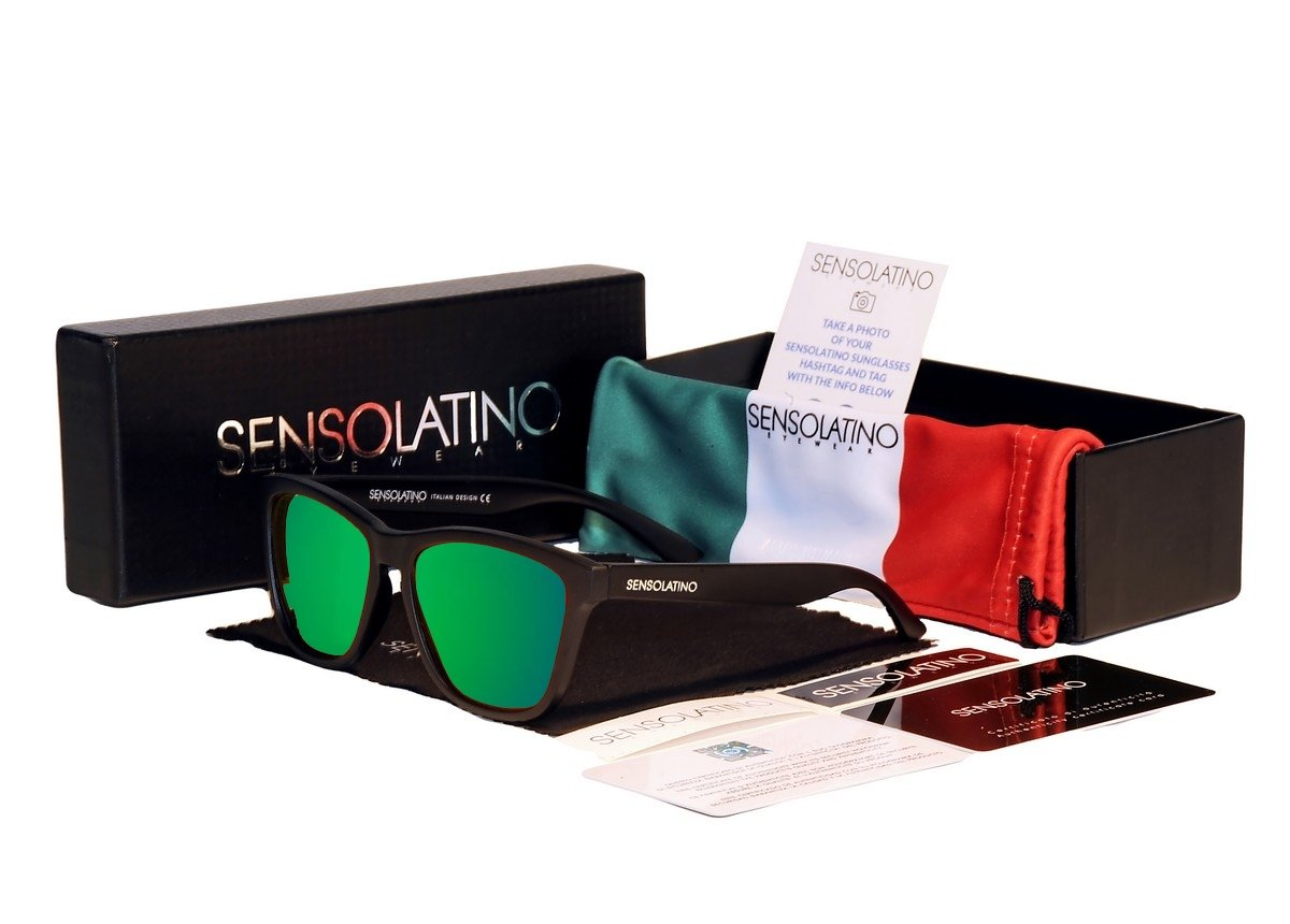 Sensolatino Italian Polarized Sunglasses Positano Green