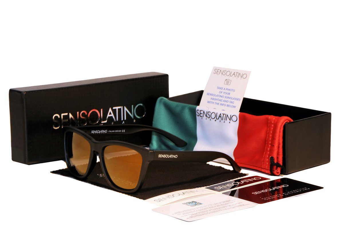 Sensolatino Italian Polarized Sunglasses Viareggio Luxury Gold