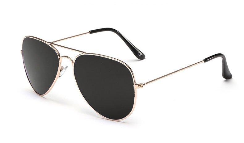 Sensolatino Italian Polarized Sunglasses Aviator Aviano Gold L Black