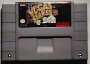 Super Nintendo SNES Vegas Stakes video game cartridge