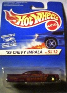 Hot Wheels 1959 Chevy Impala 1:64 scale Die cast MOC #5 of 12