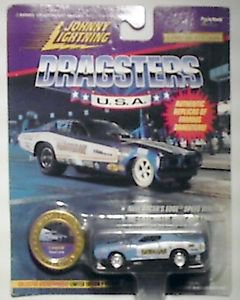 Johhny Lightning Dragsters USA 1971 Hawiian Roland Leongs w/JL coin