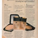 Lancome Paris foundation makeup full page printed ad Glamour March 1993