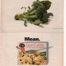 Stouffer's Lean Cuisine print ad March 1993 Glamour Magazine