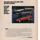 Hyundai Print Ad March 1993 Glamour Magazine Fre Shipping