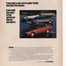 Hyundai Print Ad March 1993 Glamour Magazine Fre Shipping