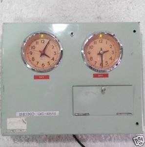 Seiko Master Clock Model QC-6MS Made In Japan. Serial No:01878