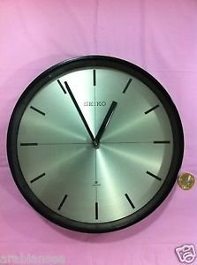 Seiko Quartz Ship's Clock  Metal and Brass Seikosha Inc Japan