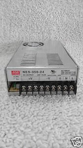 MeanWell NES-350-24 SMPS Bsed Power Supply 24 Volts 14.6 Amps 350Watts