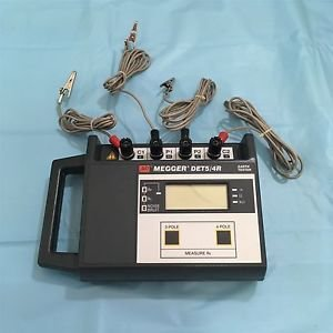 Megger DET5/4R, Four Terminal Ground Tester, with Rechargeable Batteries