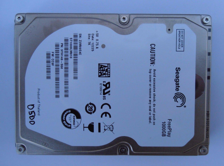 """eC HDD Seagate ST1000LM010 9YH146-550 1Tb 2.5"""" SATA CC9F TK 0500 Donor Drive"""