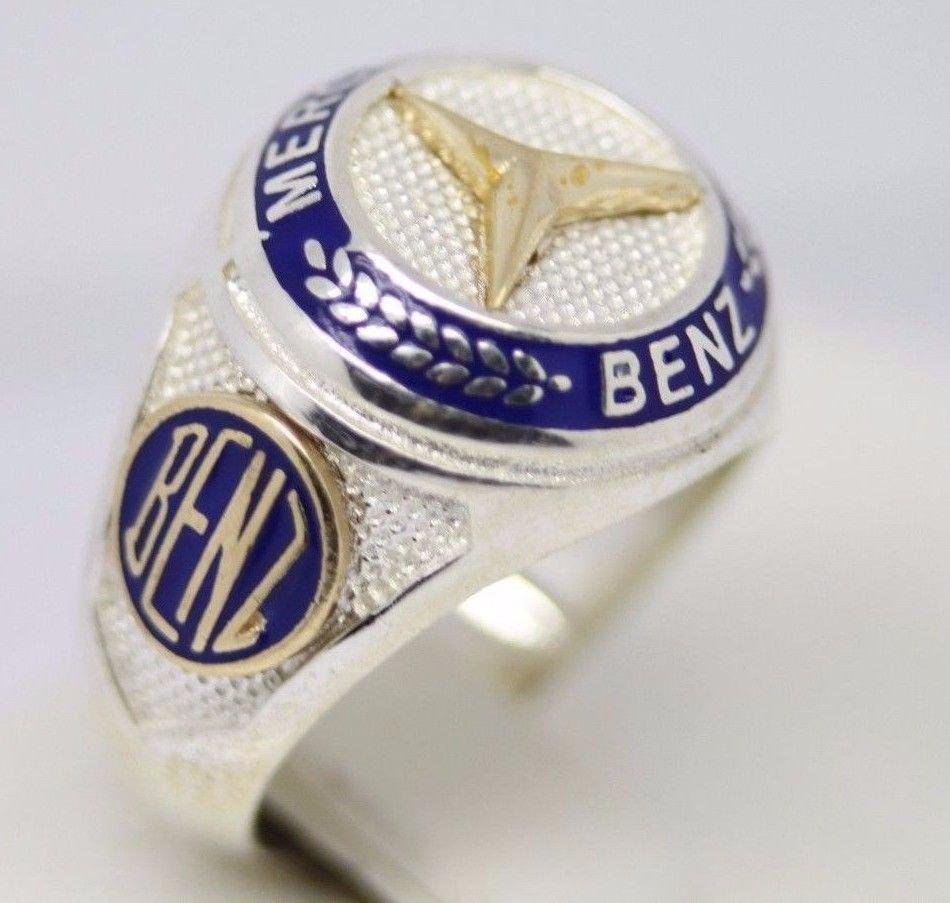 Turkish Handmade 925 Sterling Silver MERCEDES Men's Ring ALL SÄ°ZE