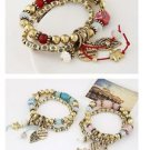 Bohemian Gold Plated Charm Bracelet