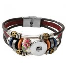 Snap Button Leather Bracelet