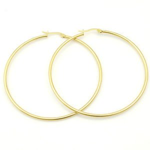 LARGE GOLD LOOP EARRINGS