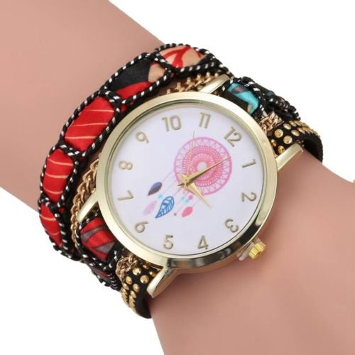 Dream Catcher Crystal Braided Wrap Bracelet Watch - USA Shipping