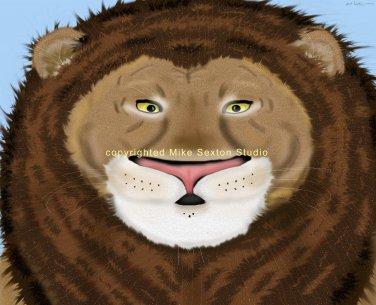 Prideful Lion Print