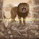 Sun Lion Roars Print