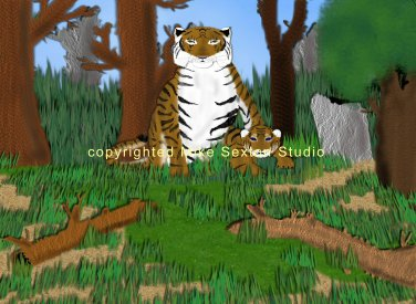 Mom & Cub (Tiger Print)