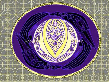 Raven Moon Celtic Knot Print