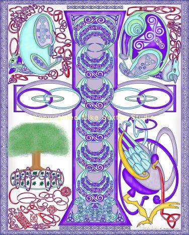 Nature's Cross (Celtic knot print)