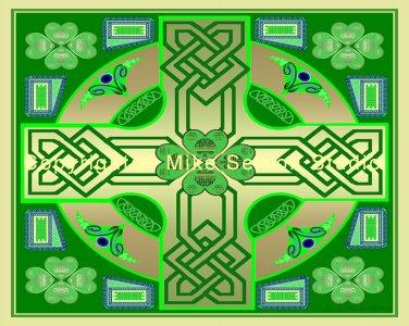 Clover Cross (Celtic knot) Print