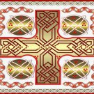 Red Celtic Cross Print