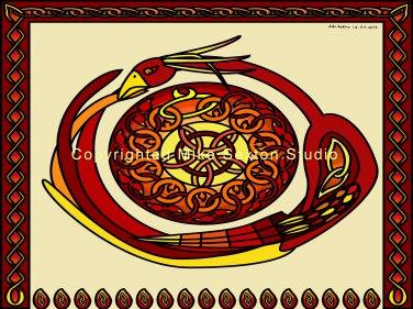 Phoenix Sun Wheel Print