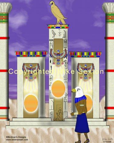 Temple of Horus Print