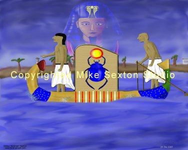 The Pharaoh's Gaze Print