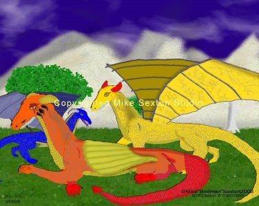 Dragon Forest Print