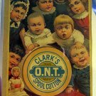 Clark's O.N.T. Spool Cotton - Victorian Trade Card