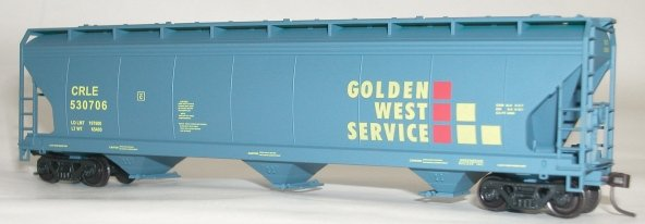 "Accurail HO scale ACF centerflow hopper ""Golden West Service""  GVSR 527034"