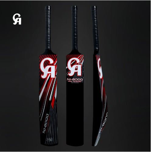 Fiber Bat For Indoor Cricket and Tape Ball Games CA 8000 is with 55mm sweet spot