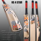 HS English Willow Cricket Bat HS 4 Star Weight From 2lb 7oz to 3lbs with free Grip+Protector.