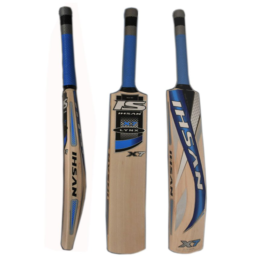 Ihsan LYNX X7 English Willow cricket bat Maximum Pike up and Balance with free grip+protector