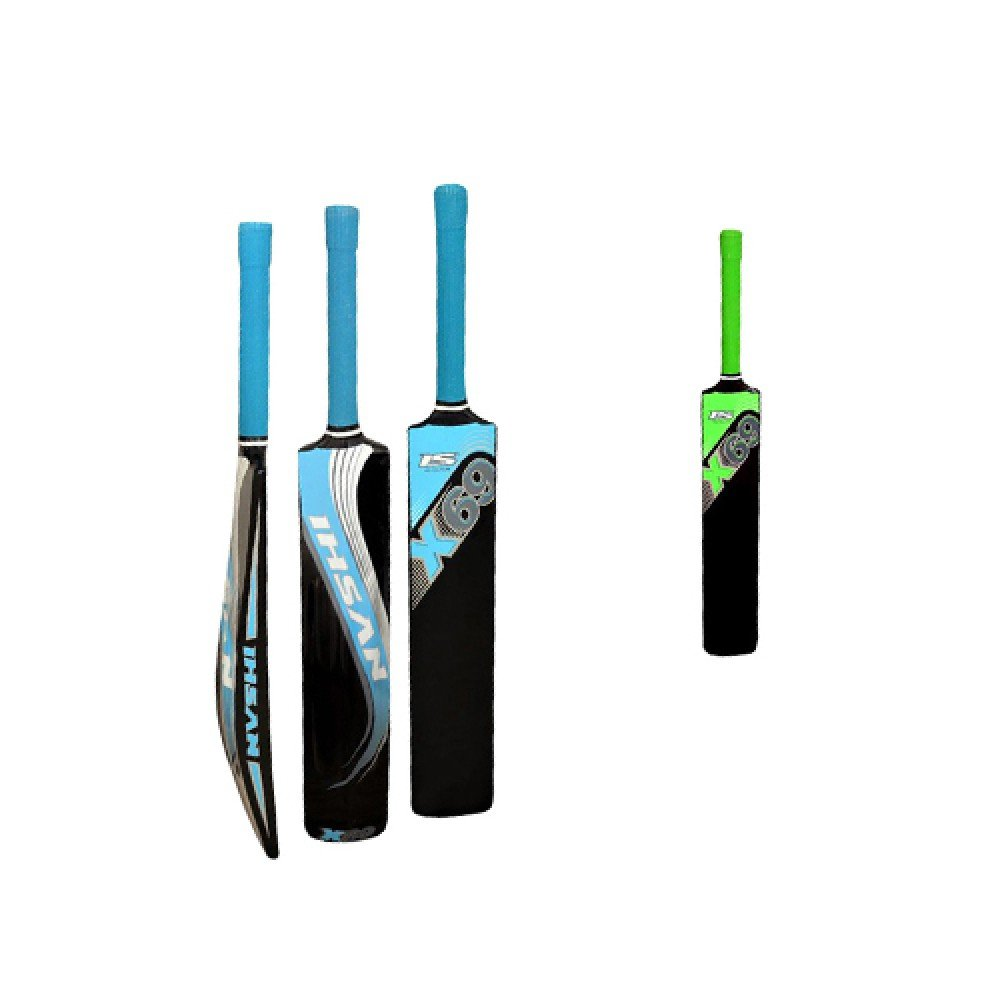 Ihsan Fiber Bat X-69 More Stronger Wieght Range 900 gme -950 gms Fitted With Rubber Grips.