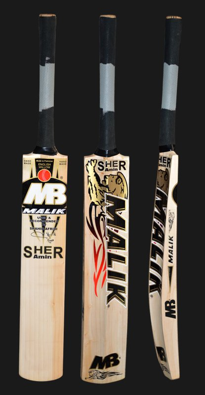 Mb Sher Amin Cricket Bat English Willow Weight from 2.8-3.2LB With free Grip+Protector