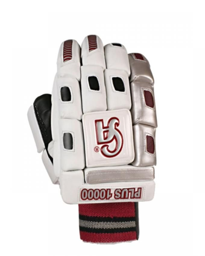 CA PLUS 10000 Batting Gloves Made up of sheep skin leather with metallic color synthetic material.
