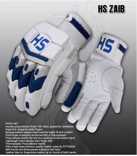 HS ZAIB Batting Gloves Made of Original Pittards Leather Available for LH & RH Batsman