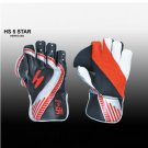 HS 5 STAR Premium quality pair of professional wicket-keeping glove made from quality leather