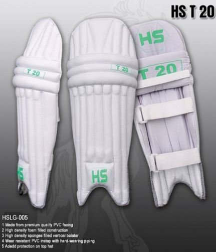 HS T20  Batting Pad Light weight Made of imported materials Available in different sizes
