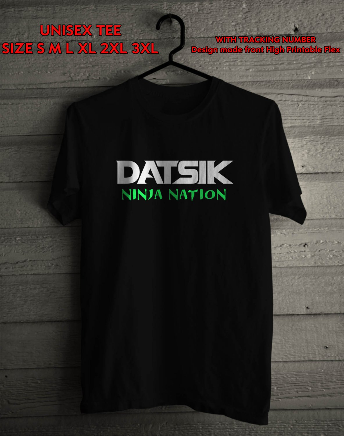 Logo of Datsik For Ninja Nation Tour Many Colour tee by Complexart