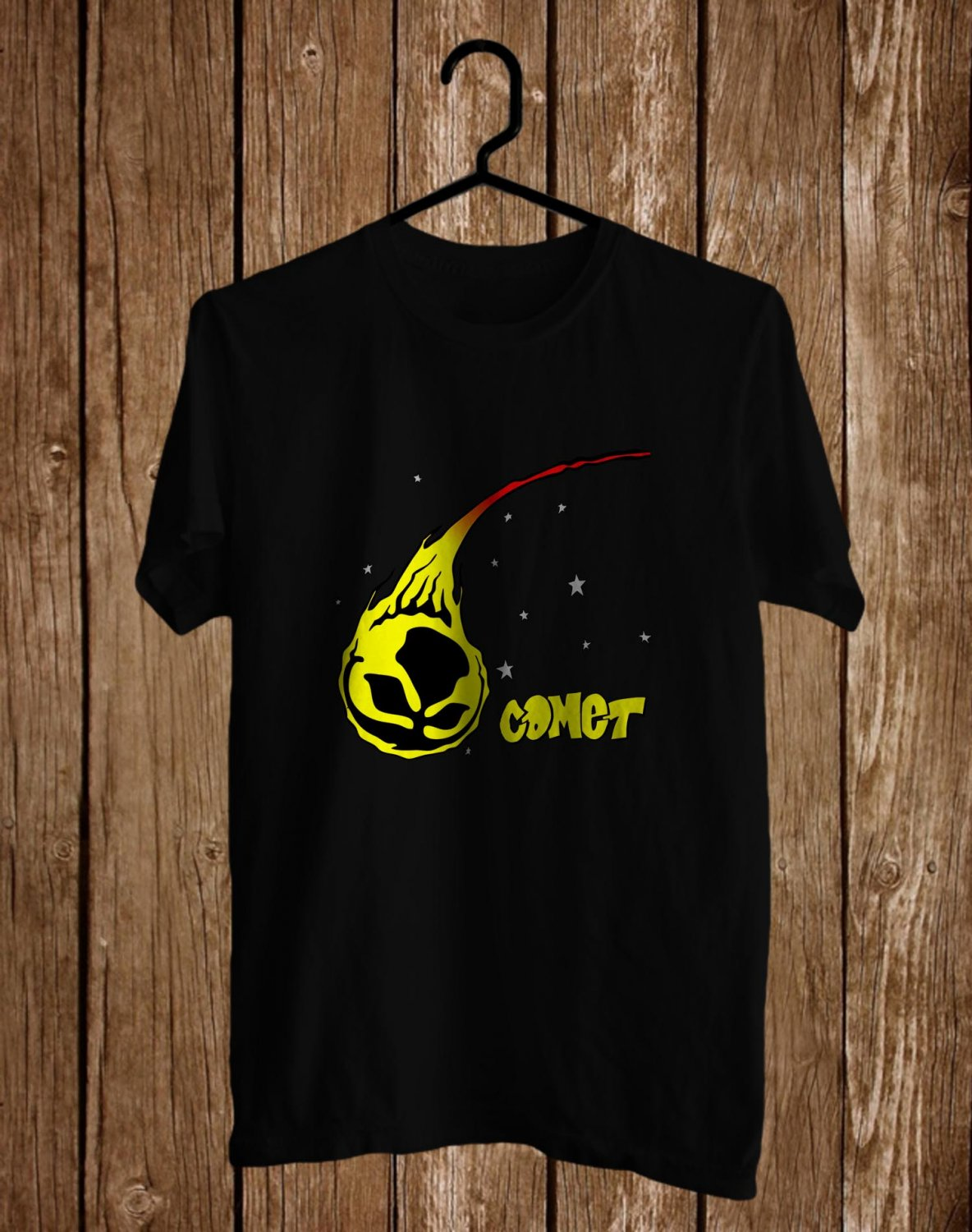 The Bouncing Souls : Comet Black Tee's Front Side by Complexart