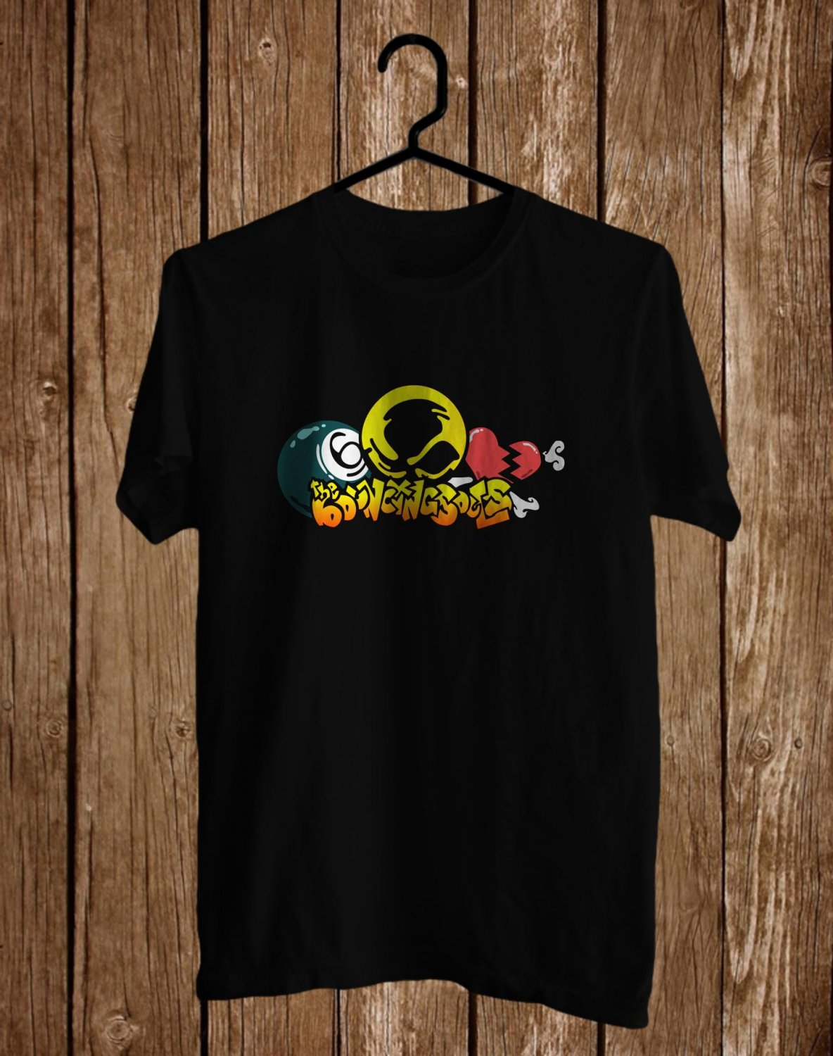 The Bouncing Souls Black Tee's Front Side by Complexart