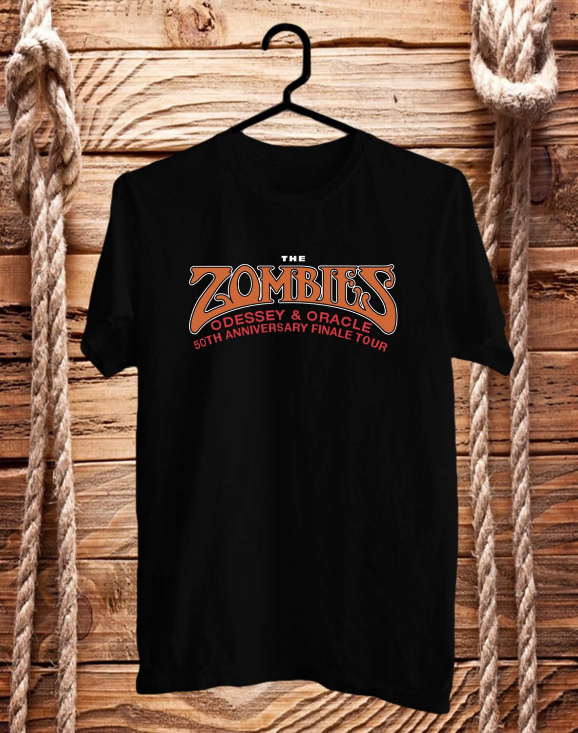 The Zombies Odessey&Oracle Black Tee's Front Side by Complexart c1