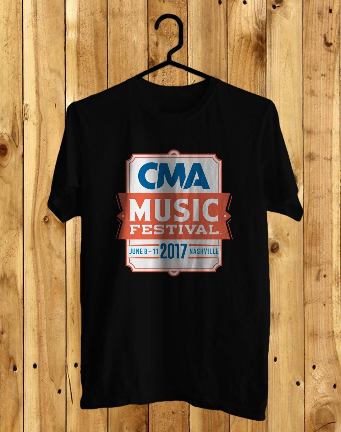 CMA Music festival Black Tee's  Front Side by Complexart
