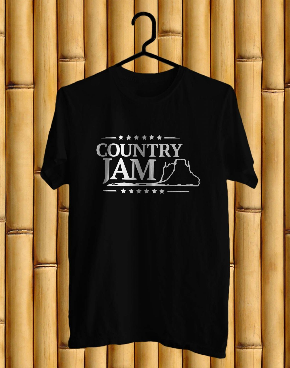 Country Jam Colorado Festival Black Tee's  Front Side by Complexart